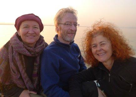 Devamani, Remigius und Verena die aktuellen Vorstandsmitglieder